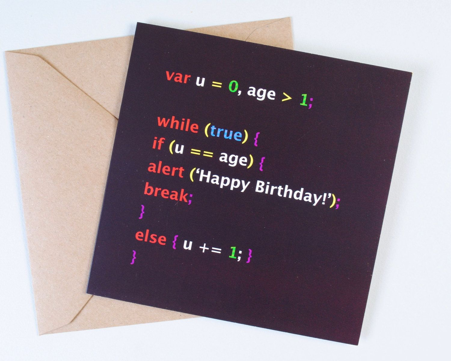 Geek Birthday Card For Your Nerdie Friends