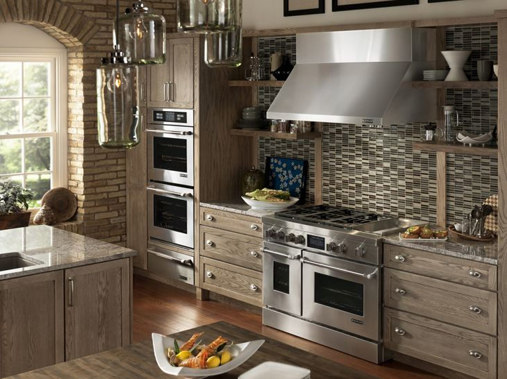 rustic cabinets really bringing out the jennair pro style stainless