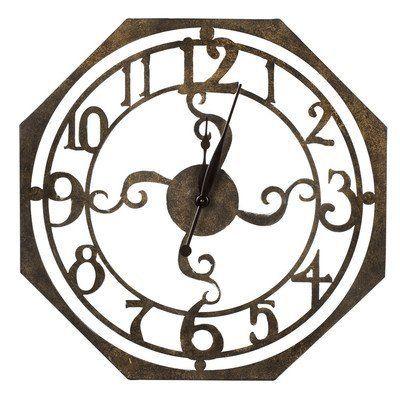 Cooper Classics Ruhard Wall Clock With Images Rustic Wall Clocks Oversized Wall Clock Bronze Clock