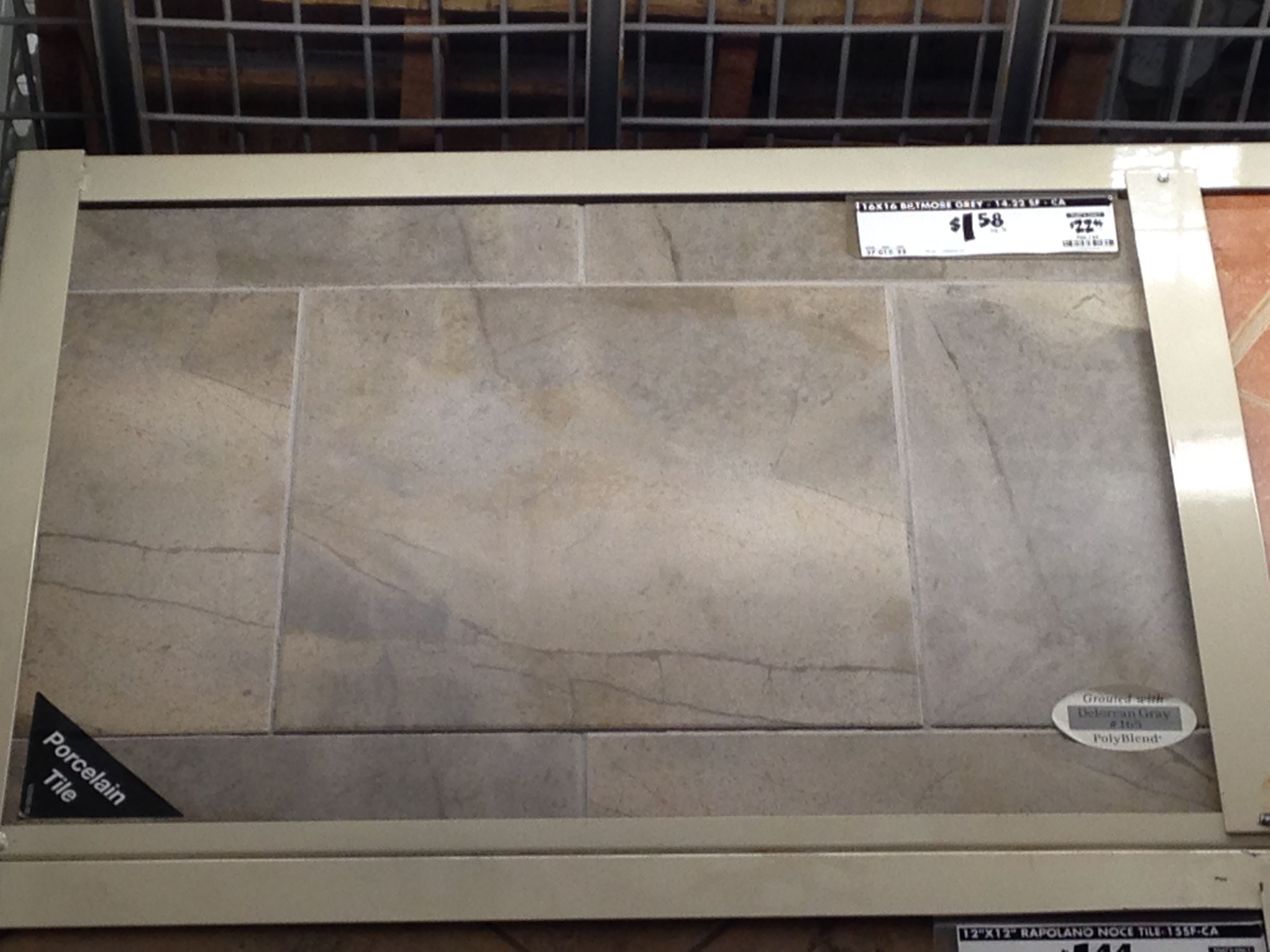 16 x 16 Biltmore Grey $1 58 ft Home Depot