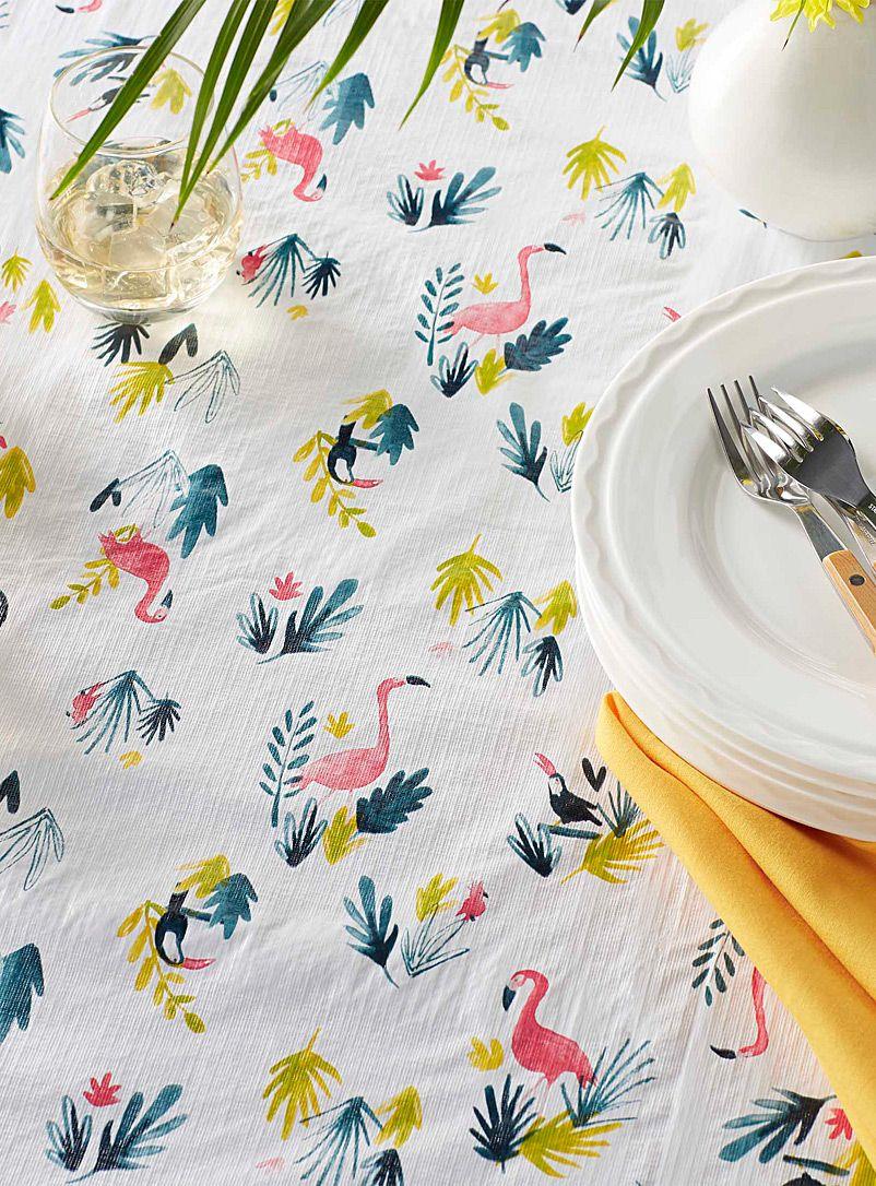 Tropical Birds Vinyl Tablecloth   Danica   Shop Vinyl Tablecloths U0026 Table  Linens Online In Canada