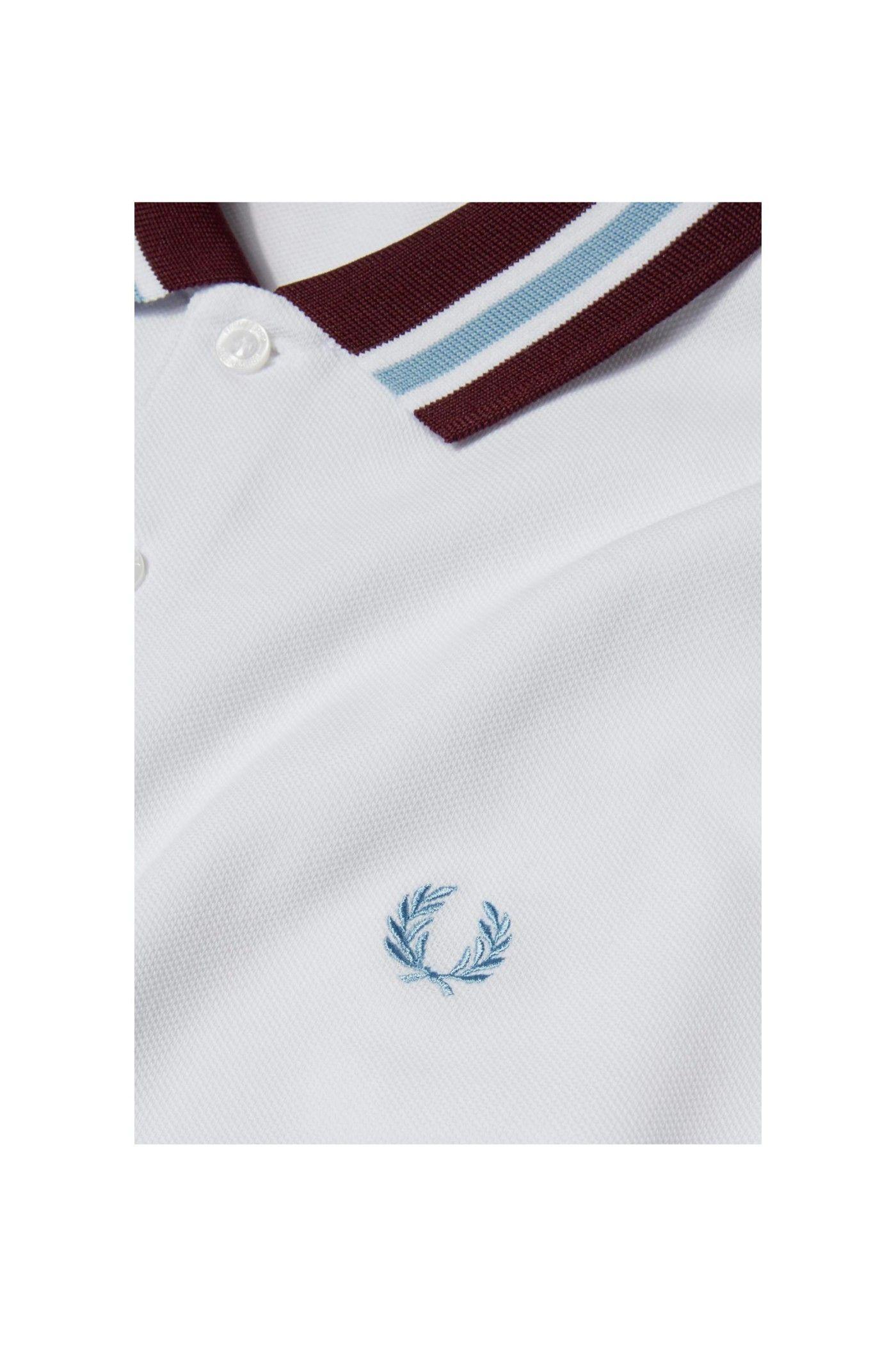 53e6a0bb Fred Perry - Bomber Stripe Collar Shirt White | polo shirts | Collar ...