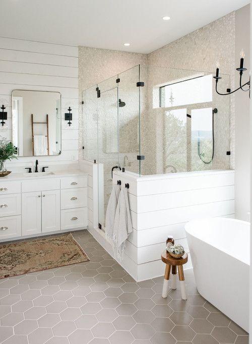 Photo of Modern Farmhouse Bathroom Shiplap Ideas – Pickled Barrel –  HI, So if we do th…