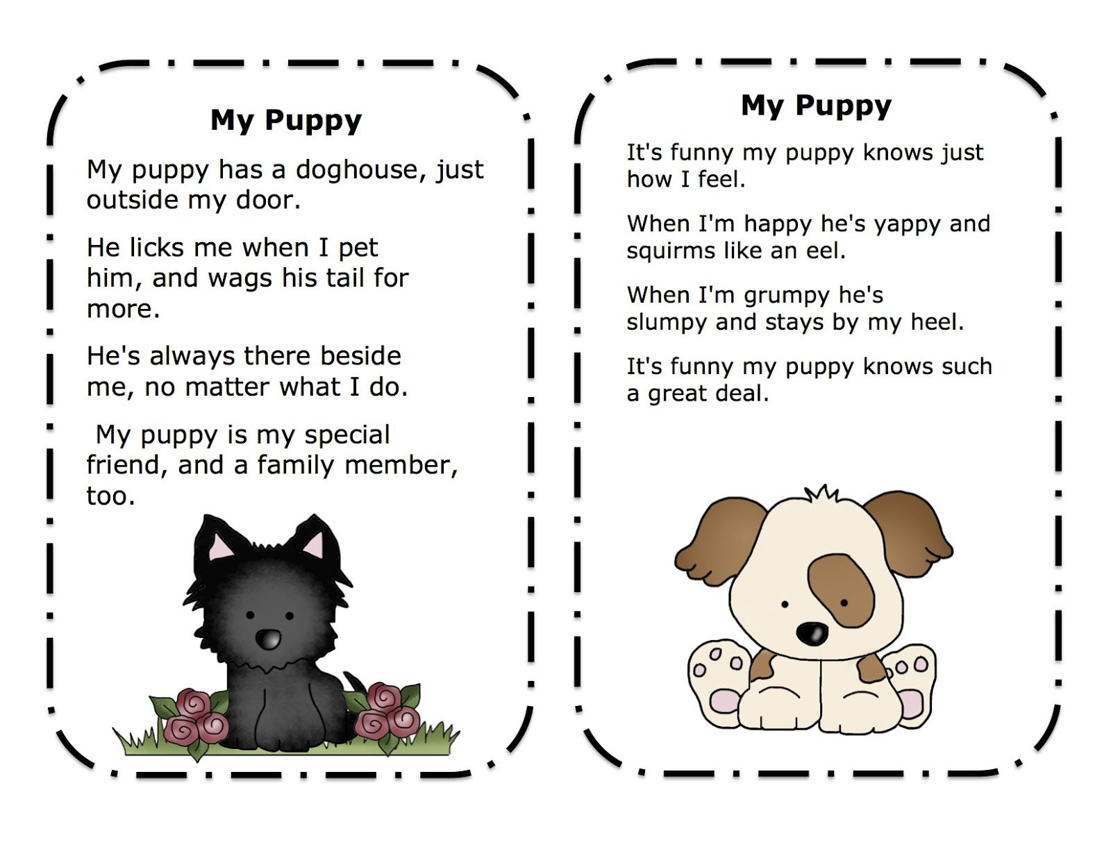 songs about pets for preschoolers preschool printables puppy songs amp poems printable pet 156
