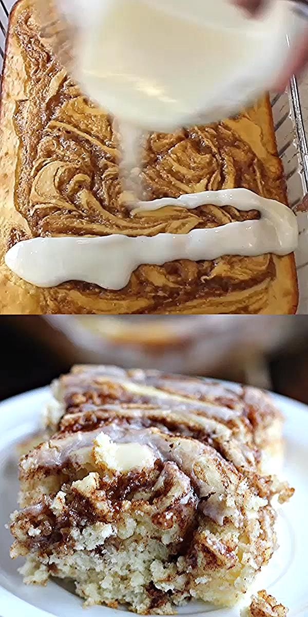 Easy Coffee cake recipe - Cinnamon Roll cake