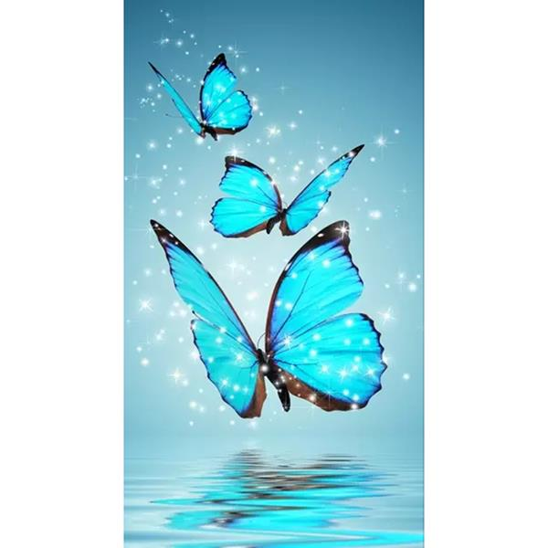 5D DIY Diamond Embroidery Painting Butterfly Cross Stitch Home Decor Craft