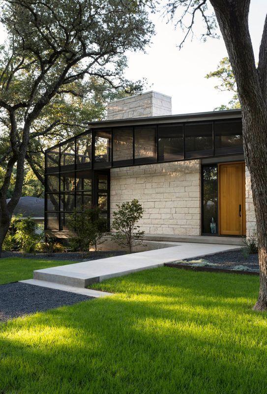 Small Custom Homes Texas Ranch Style Homes Custom Ranch Homes Design Interior Designs: Mid Century Modern Home Design Austin, Texas In 2020