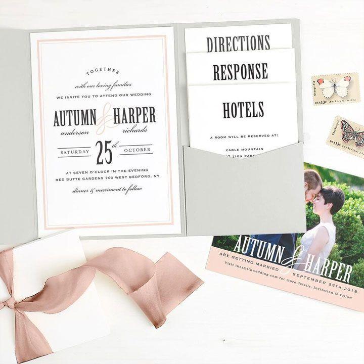 Paper suites - Unique Wedding Invitations   itakeyou.co.uk #weddinginvites #weddinginvitation #weddinginvitations #invitations #invites