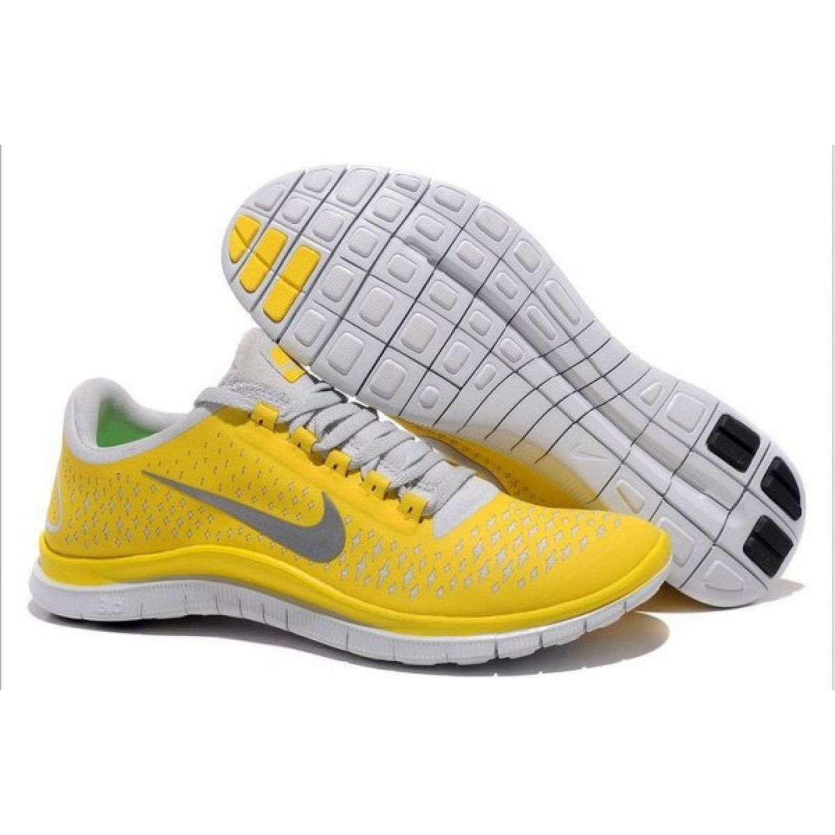 sneakers for cheap d0f7d 08e0a Nike Free 3.0 V4 Mens Yellow Grey