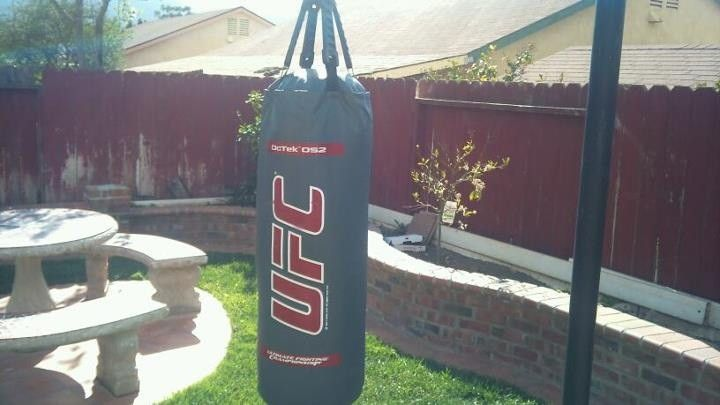 Outdoor punch bag | Pull up station, Garden design, Outdoor