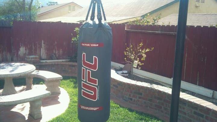 Outdoor punch bag   Pull up station, Garden design, Outdoor