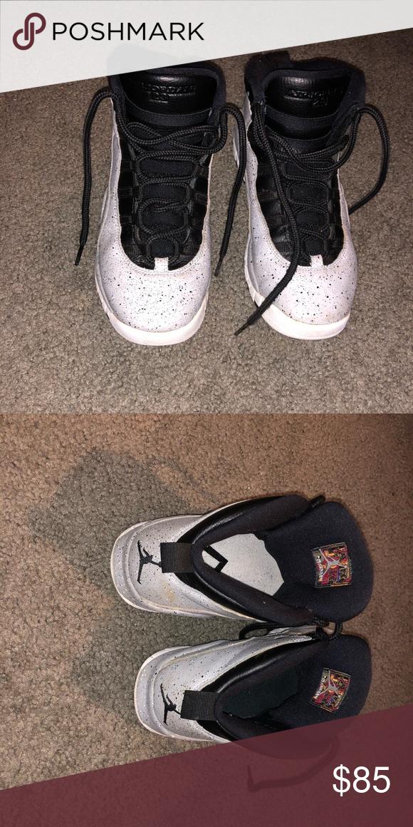 huge selection of d1ebd cf81c Boys Grey Jordan's 10 Retro Size 6.5 Like New Boys Jordan ...