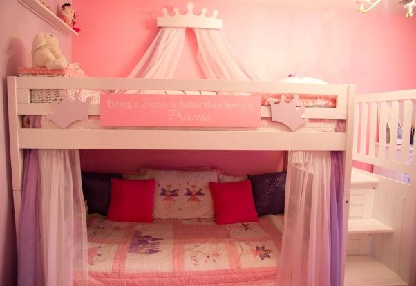 Fairy Princess Bunk Beds Girls Room My Girls Had To Share