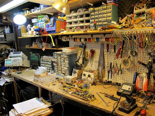workbench ideas for small garage - electronics workshop Google Search