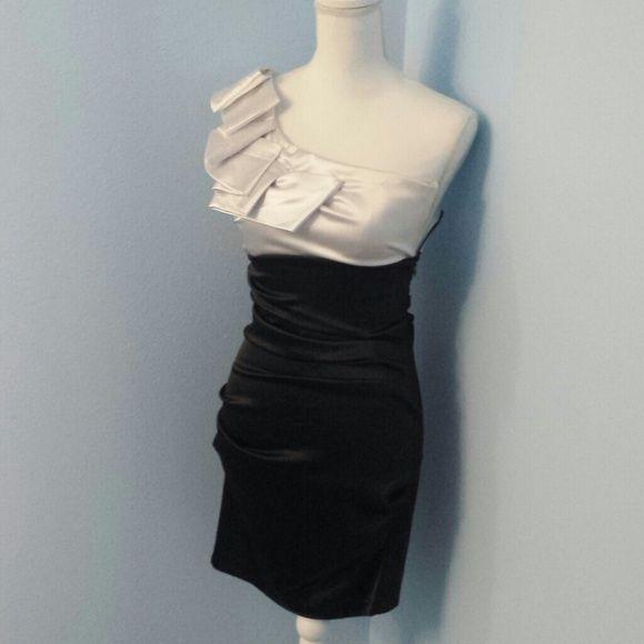 1e16d6fe29e98 Black and White Dress
