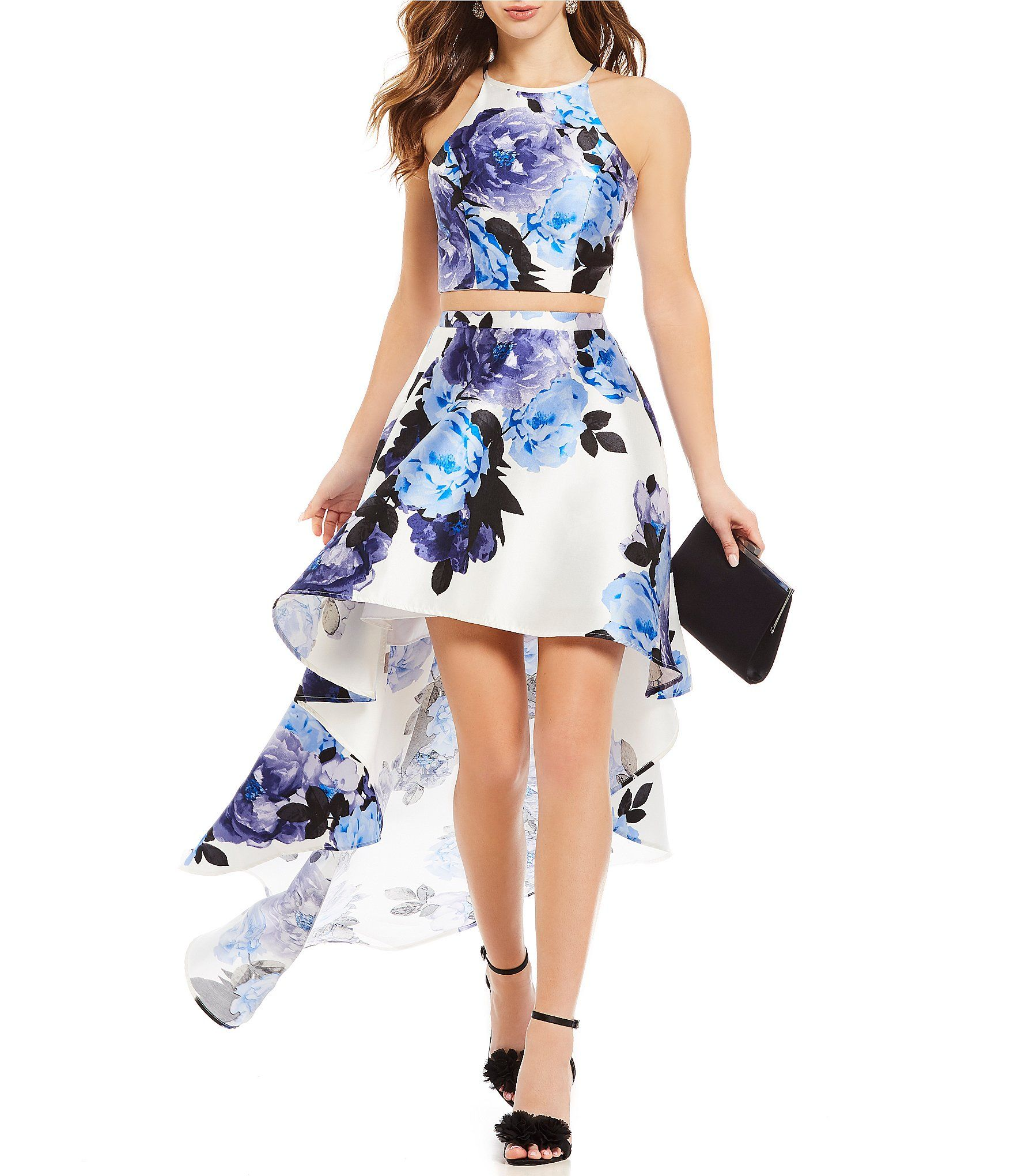 3d04eb279 Shop for Xtraordinary Floral Print Two-Piece High-Low Dress at  Dillards.com. Visit Dillards.com to find clothing, accessories, shoes,  cosmetics & more.