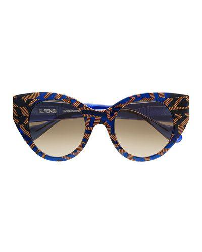 cd1a1833b07ff Fendi Fanny Cat-Eye Sunglasses