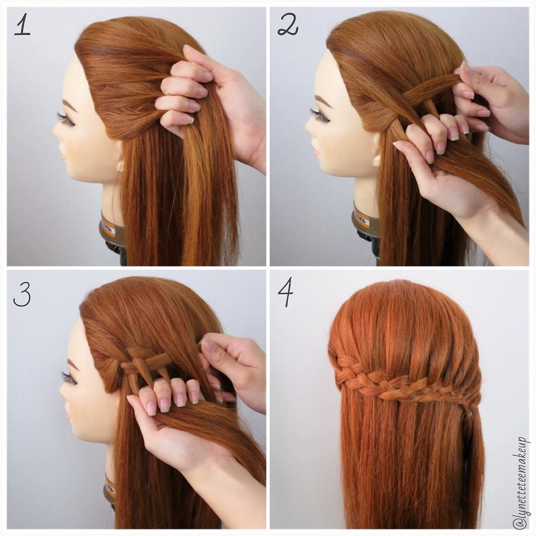 Four Strand Waterfall Braids Check Out The Steps Below 1