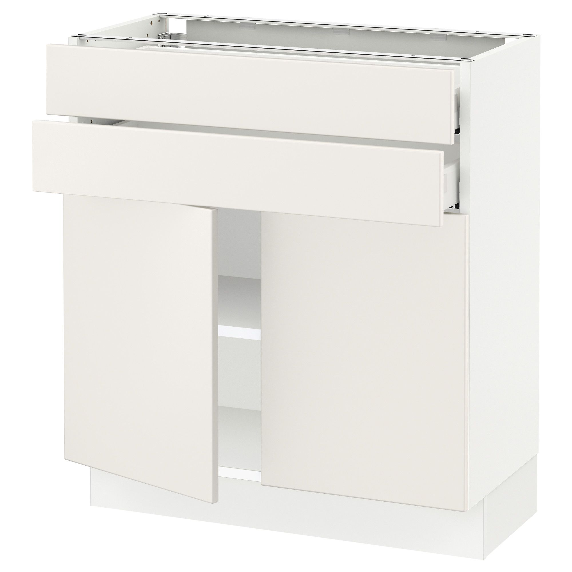 IKEA - SEKTION white Base cabinet with 2 doors/2 drawers Frame colour: