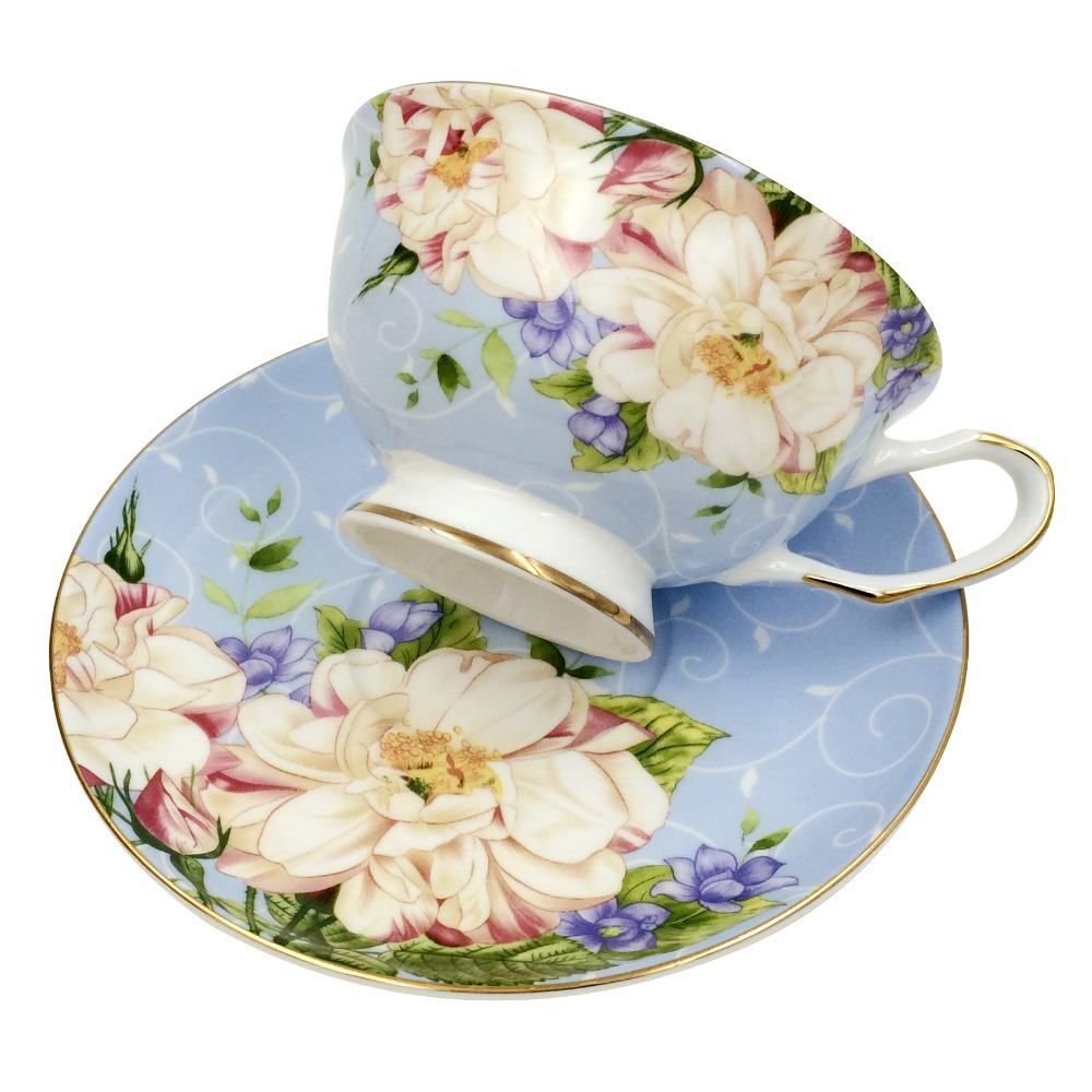 Jsaron vintage de la porcelana t taza de caf con la for Tazas de te inglesas