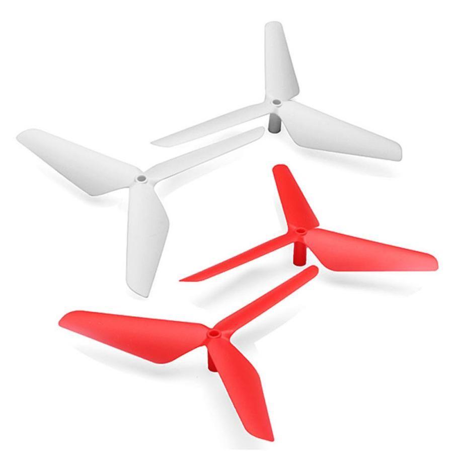 Prijs redution Nieuwe 4 ST 3 Blade Propeller voor Syma X5 X5C X5SC X5SW Rood & Wit Gratis Verzending
