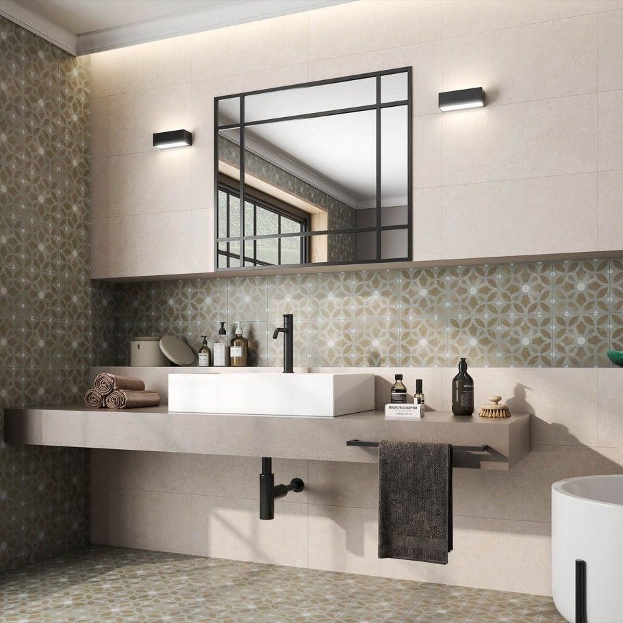 8X8 Bathroom Design Prepossessing Bella Louvre 8X8 Glazed Porcelain Tile  Tilebar  Tiling Design Inspiration