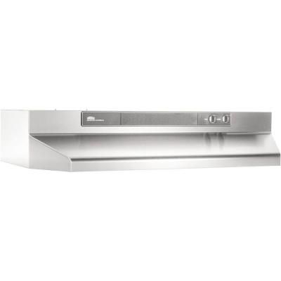 Broan Nutone 46000 Series 24 In Convertible Under Cabinet Range Hood With Light In Stainless Steel 462404 The Home Depot Broan Stainless Range Hood Range Hood