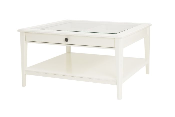 Liatorp Coffee Table White Glass 36 5 8x36 5 8 With Images