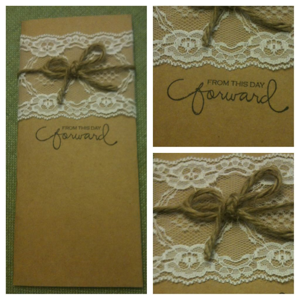 My handmade invitations are coming along good! A big thanks to my MOH and one of my bridesmaids!!