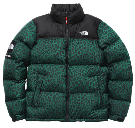 4a4b60a11 Supreme Green Leopard Print Northface Jacket | Clothes N Other Shit ...