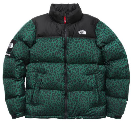 Supreme Green Leopard Print Northface Jacket