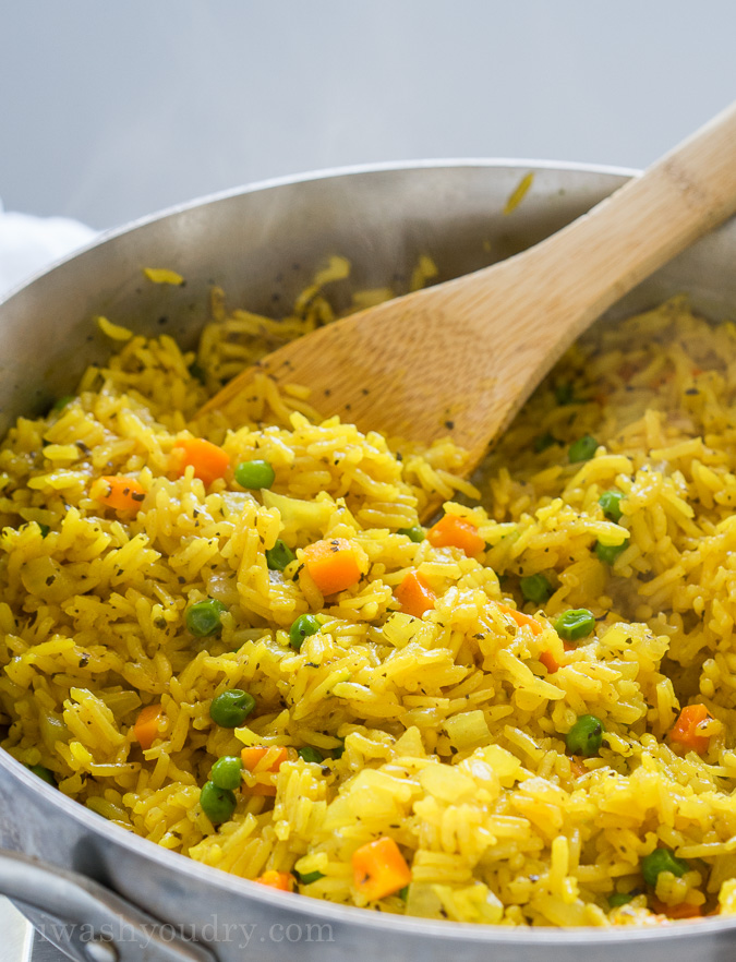 Easy Vegetable Rice Pilaf #easyricepilaf