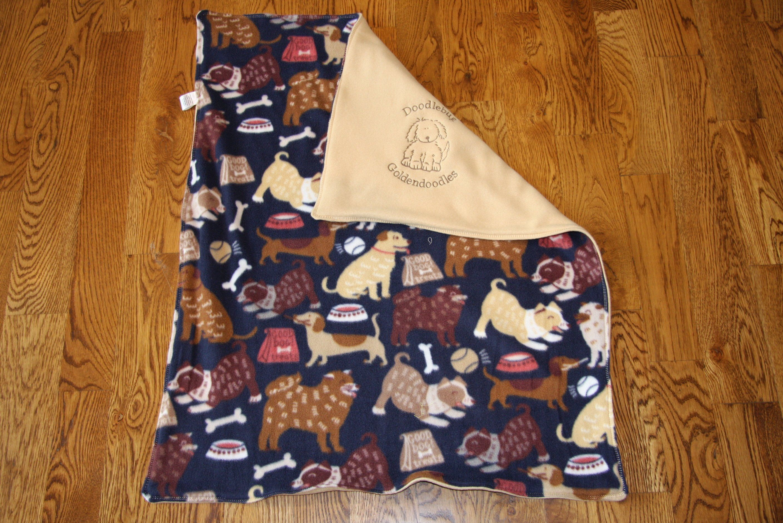 REVERSIBLE Pet Blanket Dog Blanket Fleece Custom