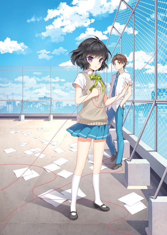 Anime Art School Uniform School Girl Pleated Skirt Sweater Vest Bow Tie Short Hair Anime Boy Anime School Girl Anime Art Anime