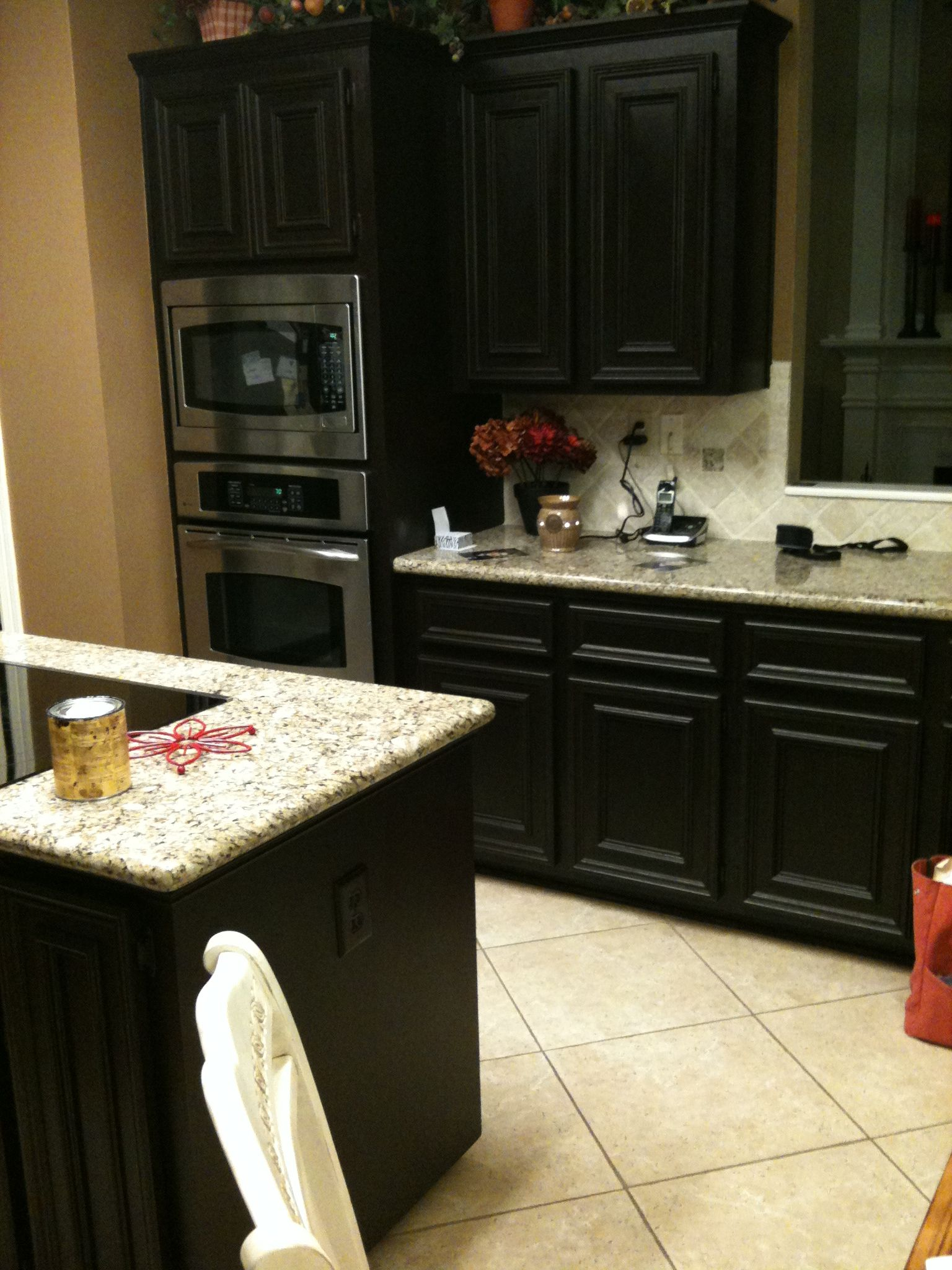 diy gel stain kitchen cabinets. Black with the faux finished, gray ...