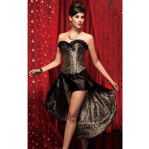 atomic leopard print corset  skirt  plus size corset