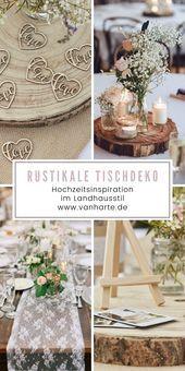 Photo of Rustikale Tischdeko im Landhausstil