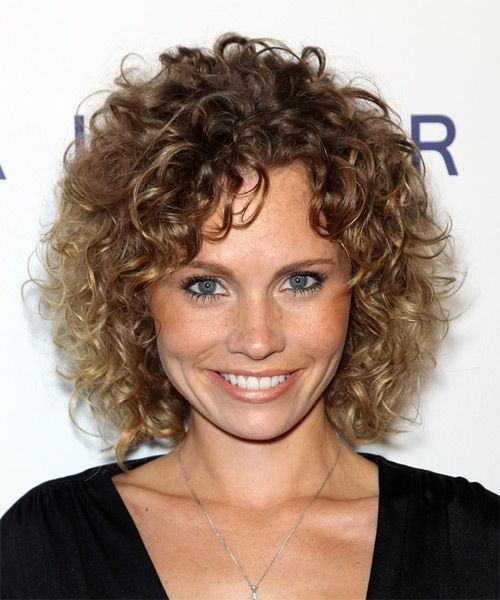 Katie Cooper Medium Curly Brunette Hairstyle Short Natural
