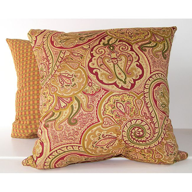 RLF Home Paddock Shawl Decorative Pillows Set Of 40 Antique Gold Classy Coordinating Decorative Pillows