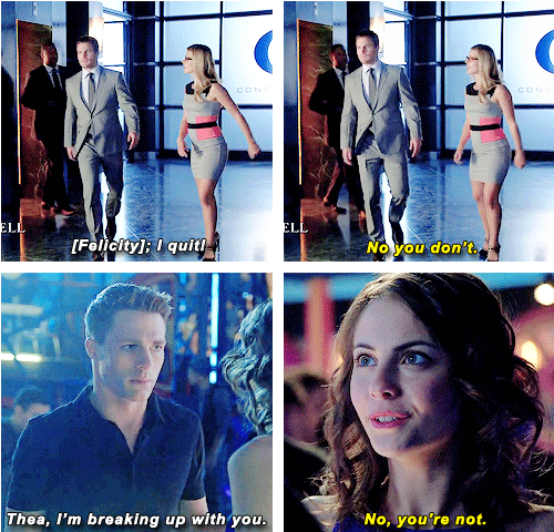 Oliver, Felicity, Roy and Thea #Arrow #damn Queens cant take