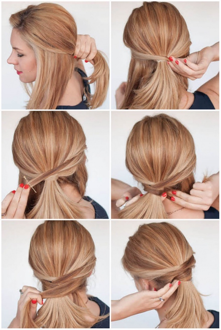 Best 60 Diy Cool Hairstyles You Can Do At Home Page 12 Chic Cuties Blog Medium Length Hair Styles Hair Lengths Office Hairstyles