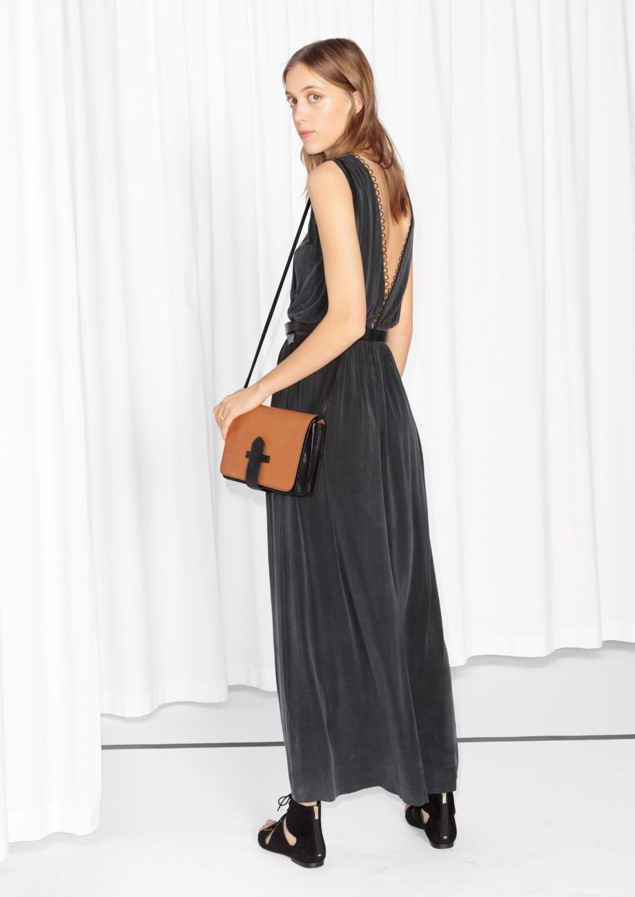 Other Stories Image 3 Of Cupro Maxi Dress In Black Maxi Dress Dresses Black Maxi Dress