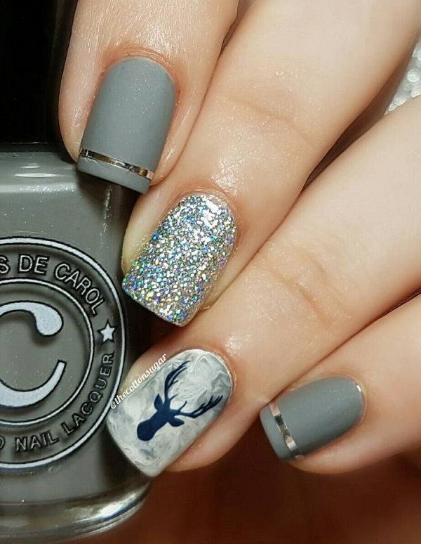 70 Square Nail Art Ideas | Manicure, Square nails and Winter nails