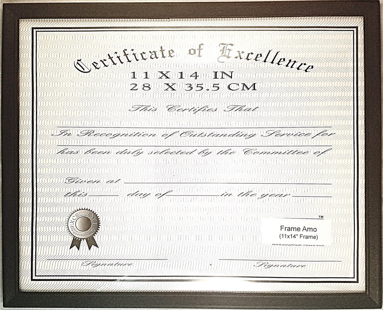 Economy Black 11x14 Document Certificate Frame, 0.625 inch Border ...