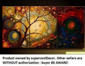 Amazon.com: Modern Oil Painting on Canvas Stretched-framed - Abstract - ytg0032 - Return shipping covered for continental US regions: Home & Kitchen