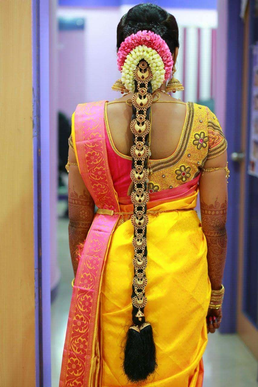 Baby Steps To 5 Storey Glory Story Of Tirupur Based Make Up Artist Indian Bridal Hairstyles Indian Bride Hairstyle South Indian Wedding Hairstyles