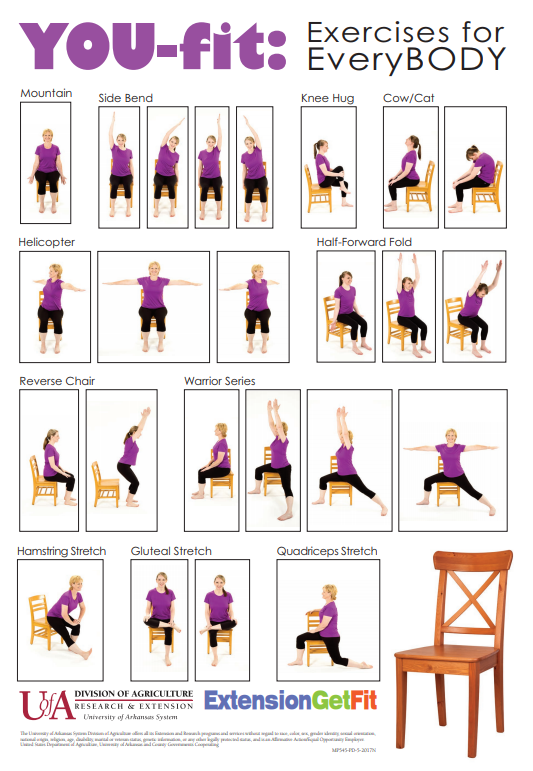 YOUFit Chair Yoga poster Chair yoga, Chair pose yoga