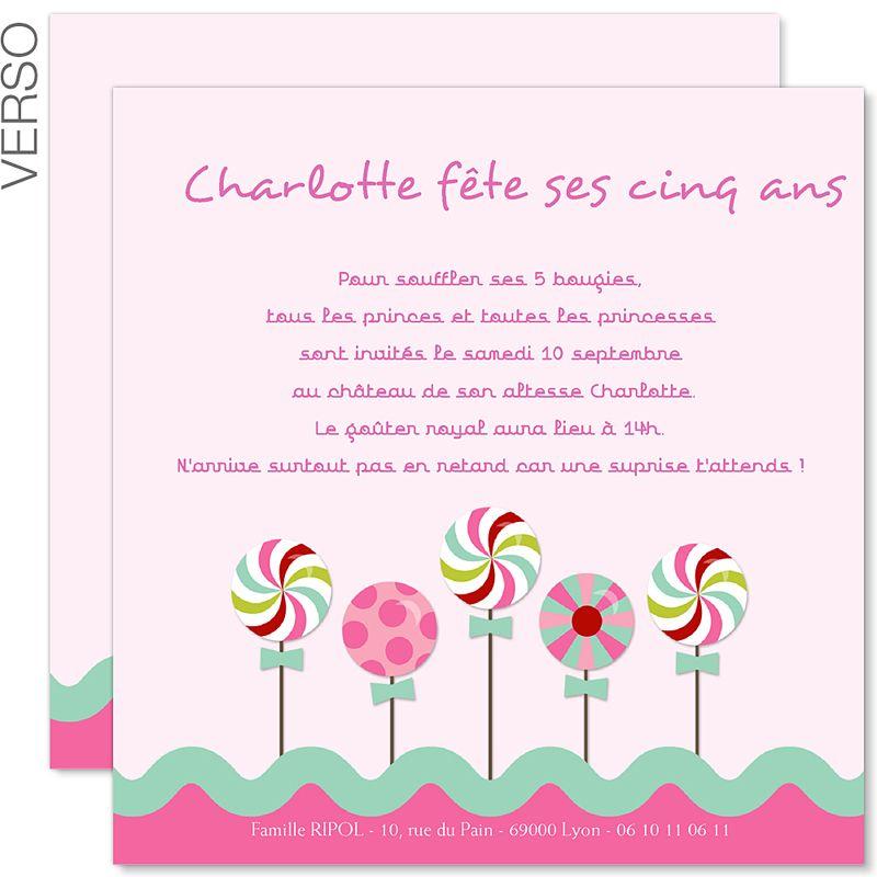 texte invitation anniversaire carte