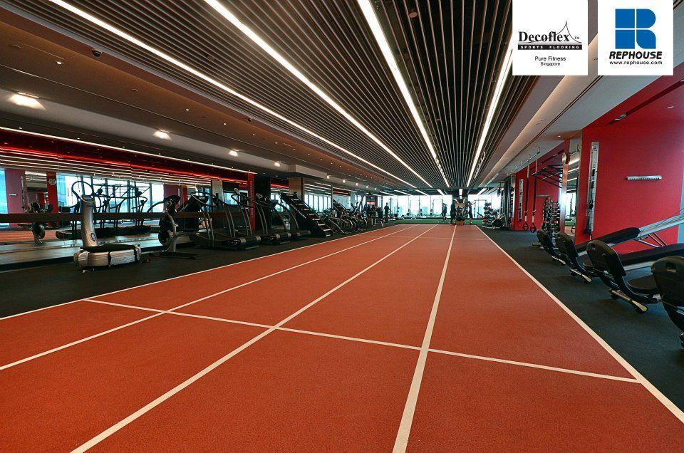 Decoflex Indoor Sprint Fitness Running Track Pure