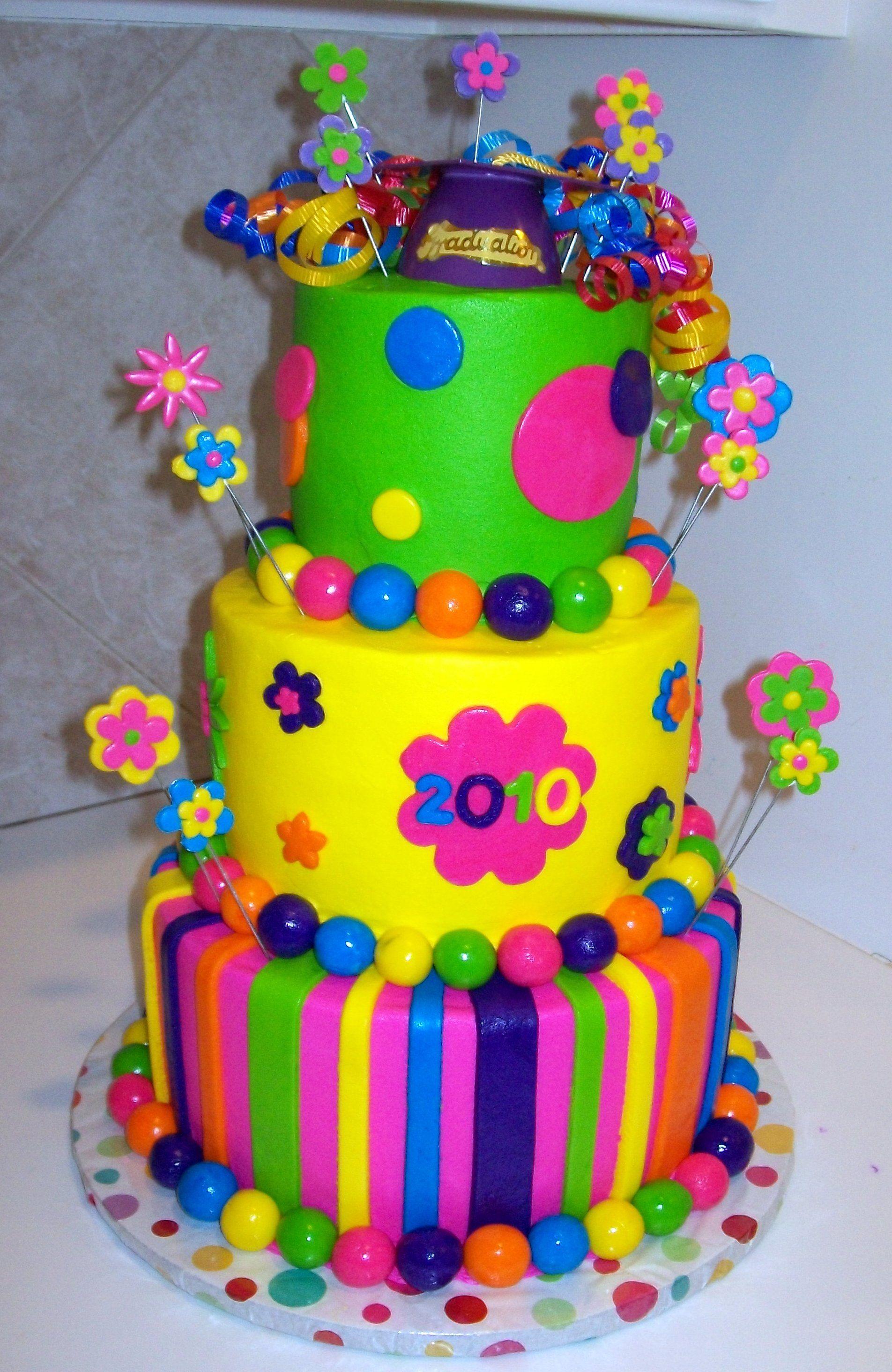 Colorful Graduation Cake Wow Cake Cake Decorating